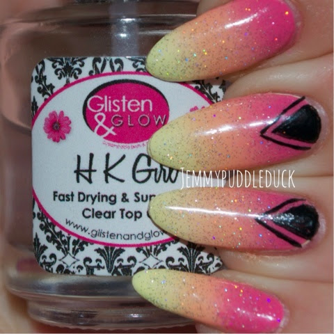 summer gradient claires nails inc models own peach melba nail art simple lovely yellow pastel hot pink coral triangles aztec