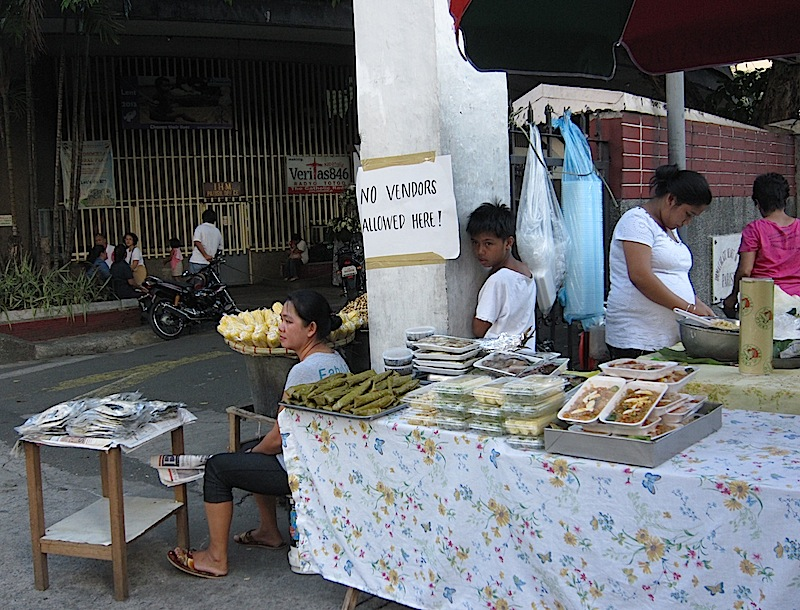 vendors outside the Immaculate Heart of Mary Parish church