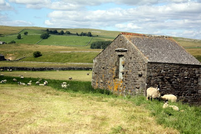 Stone barn in the Eden Valley in Cumbria in northern England