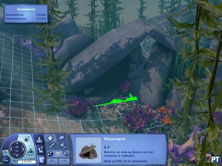 Sims 3 Exotisch Eiland duiklocatie bewerken