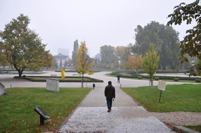 斯洛伐克總統府內的花園一景