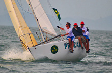 J/24 Prozak sailing Brazil Ilhabela sailing race week