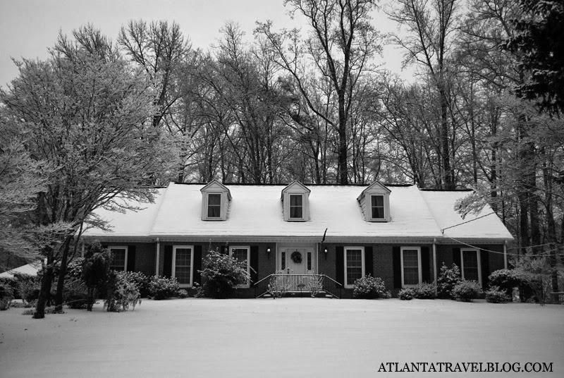 Черно-белая Атланта зимой