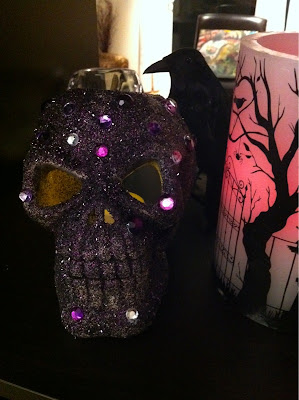 spooky glam skull