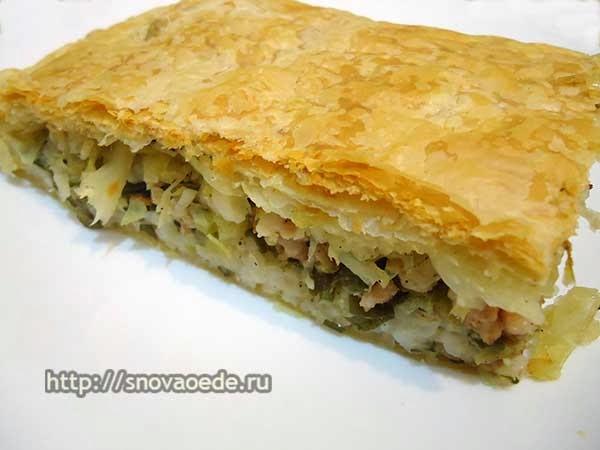 пирог с рисом и мясом