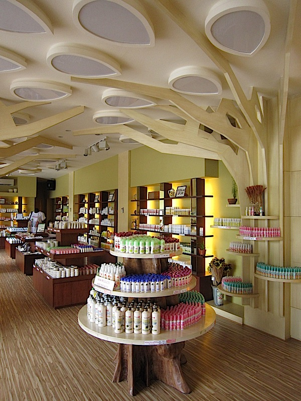 interior of Human Nature's main shop