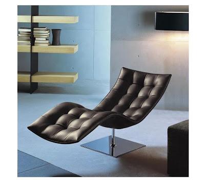 Lederen lounge retro design zetel