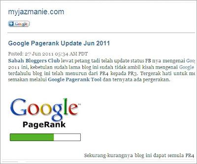 Email mengenai PageRank