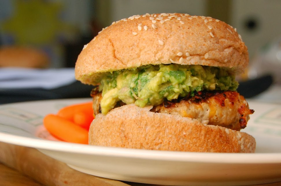 A great recipe for Cheddar Jalapeno Burgers with Guacamole.
