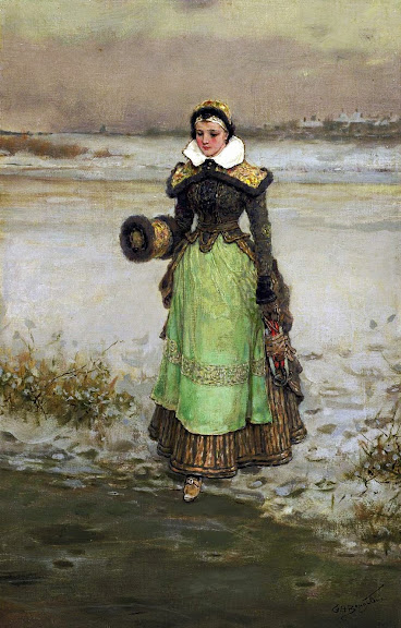 George Henry Boughton - Woman on Skates