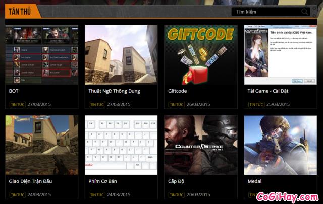 hướng dẫn chơi game bắn súng CS Online