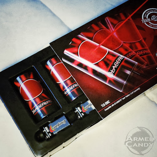Laserlyte plinking cans targets and compact training pistol reviewed by ArmedCandy