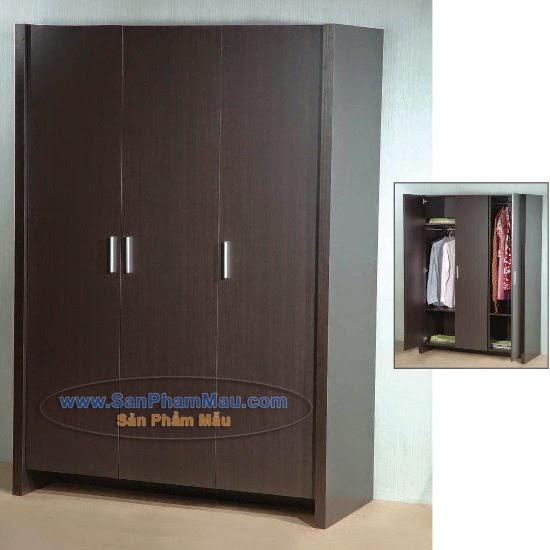 Tủ quần áo 3 cánh cửa màu nâu