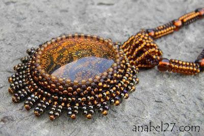 купить украшения из бисера кулоны с камнями украина