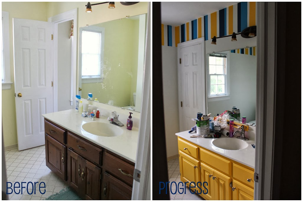 Kids' Bathroom: Lining things up | sassy. happy.