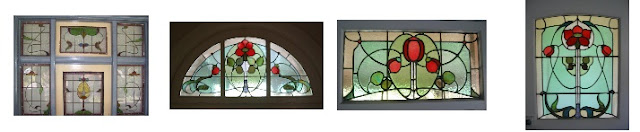 Artarmon NSW, examples of Art Nouveau style Leadlight Windows