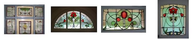 Artarmon NSW, examples of Art Nouveau style Leadlight Windows