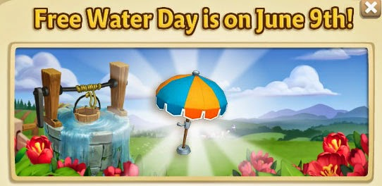 farmville 2 free water day