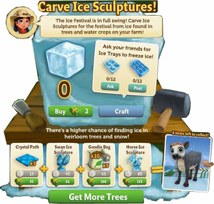 farmville 2 ice carving station