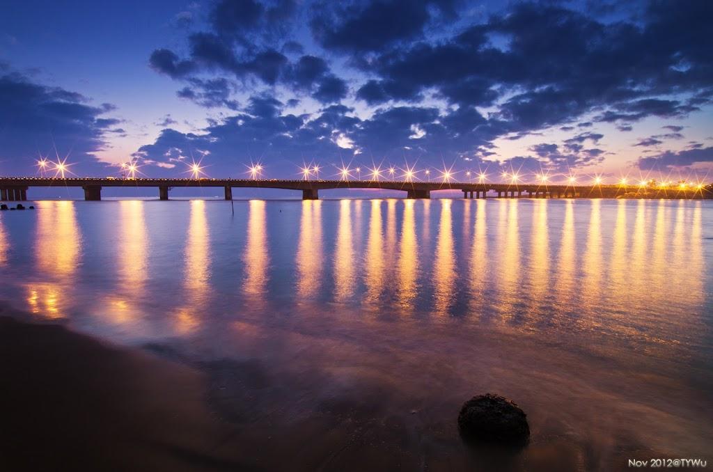 安平運河夜景