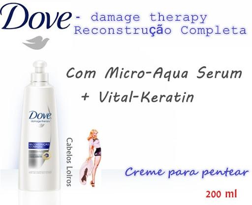 Creme%252520de%252520pentear%252520Dove - Creme de Pentear Dove Damage Therapy - Reconstrução
