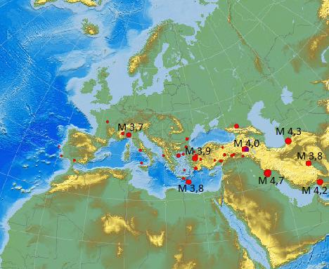 Erdbeben Europa 29.02.2012