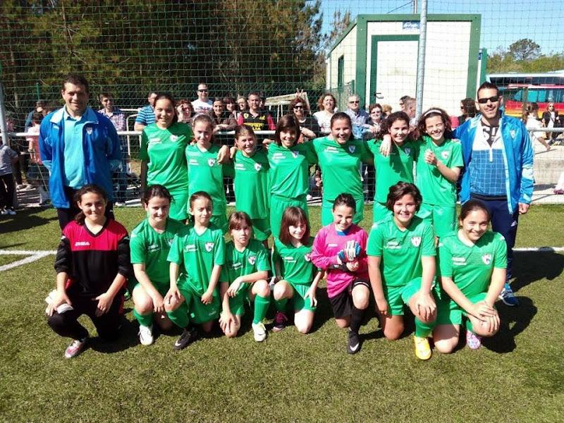Selección SUB-12 Feminina de Ferrolterra. Subcampiona Galega (12/04/2015)