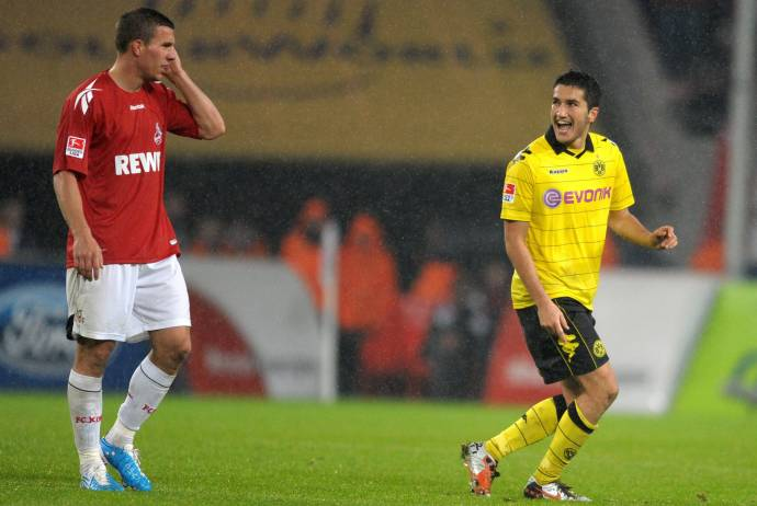 Nuri Sahin descansa a Podolski :)