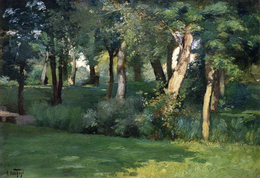 Edward Henry Potthast - The Barbizon Forest