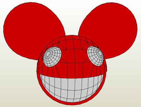 Lifesize Deadmau5 Paper Model