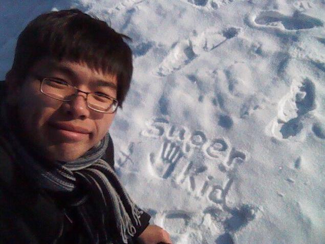 Superkid在Olsztyn雪地上留下的印記!