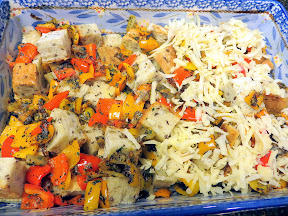 Baby Bell Peppers and Swiss Strata recipe