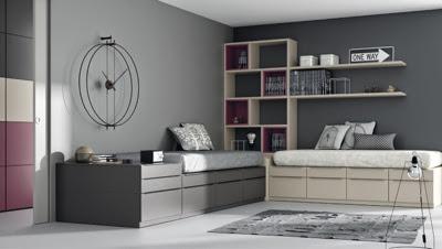 Dormitorios juveniles y habitaciones infantiles con dos camas - Habitaciones juveniles para dos ...