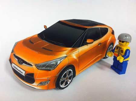 Hyundai Papercraft Cars