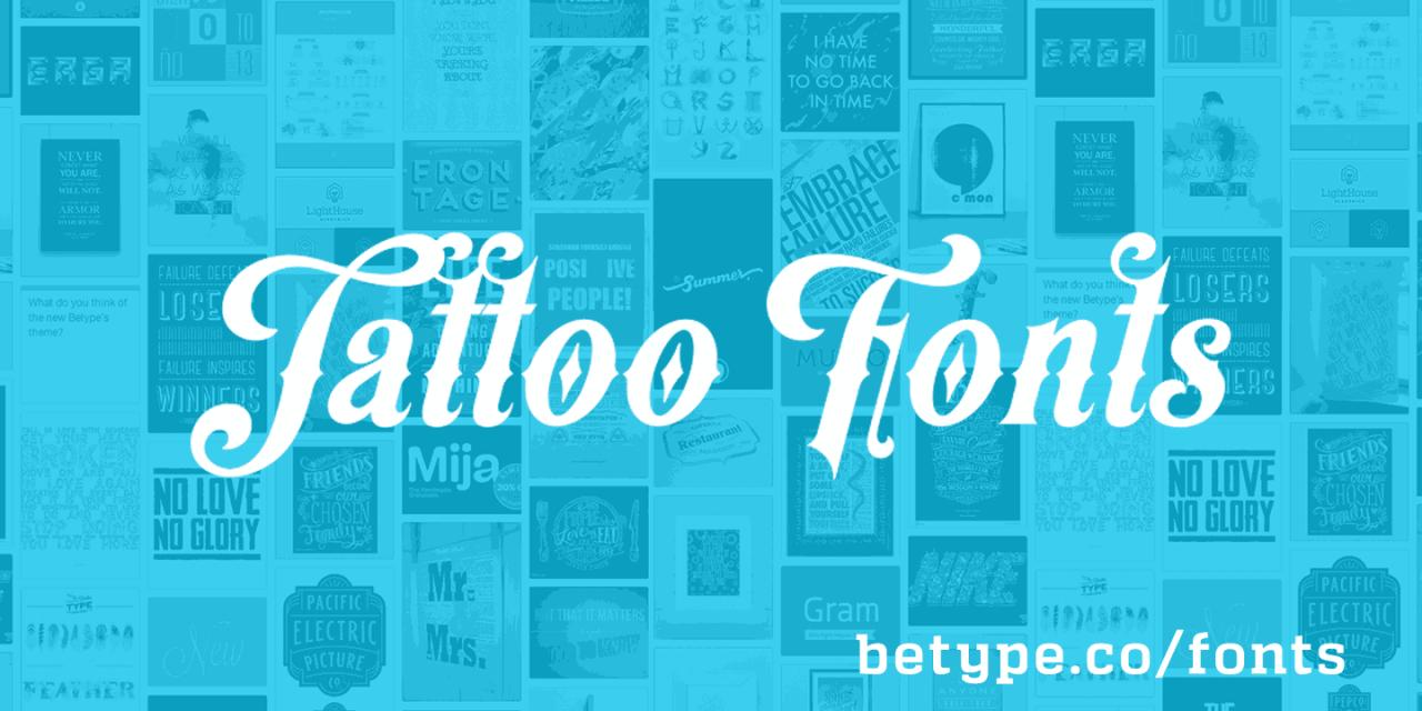 script tattoo fonts for men