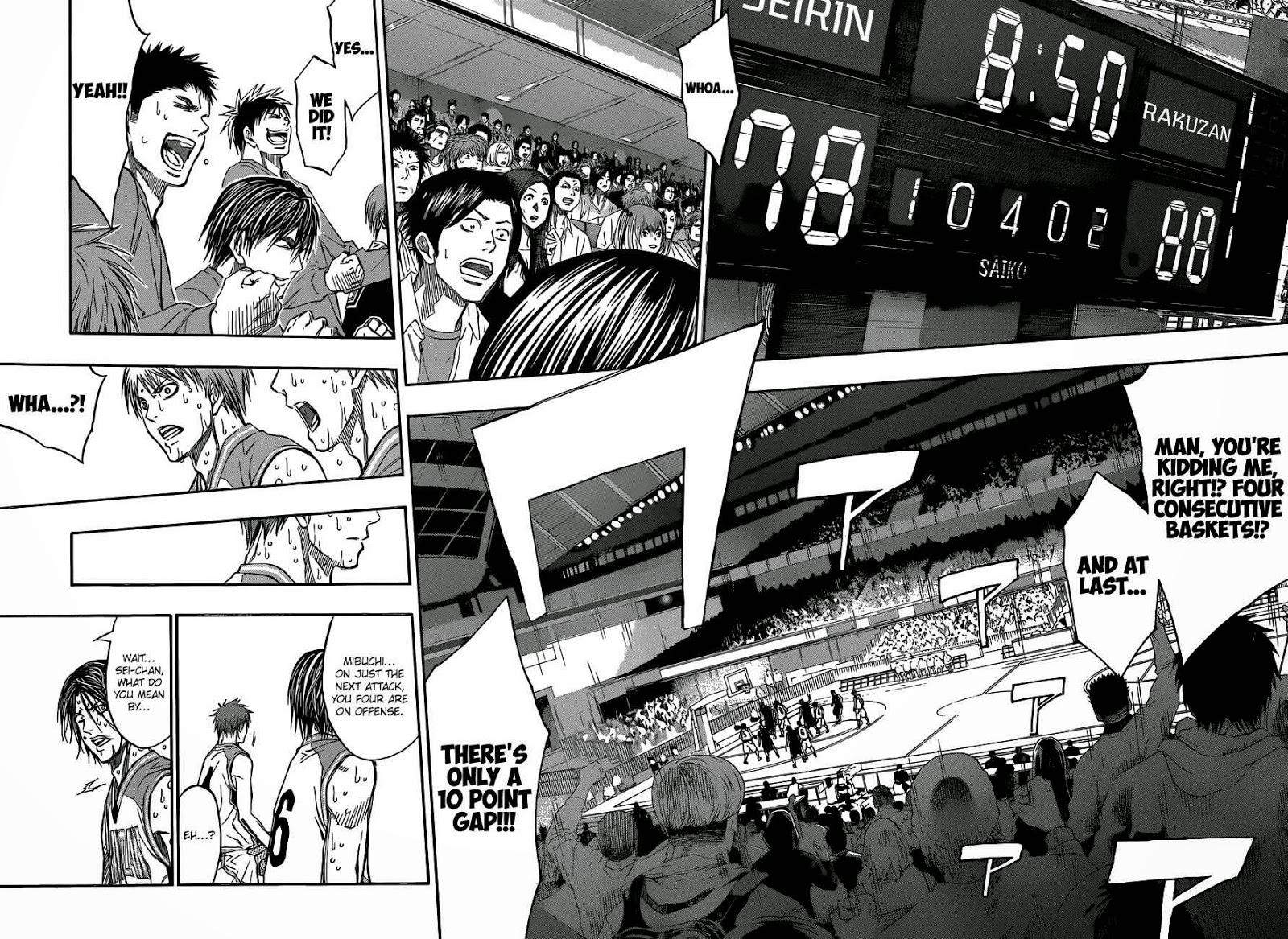 Kuroko no Basket Manga Chapter 260 - Image 12-13