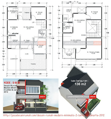 Desain Rumah Modern Minimalis 2 Lantai di Jakarta 2012 @ Jasa Desain