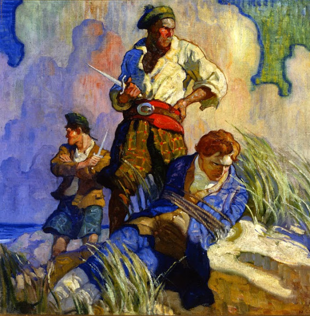 N. C. Wyeth - David Balfour by Robert Louis Stevenson, cover illustration