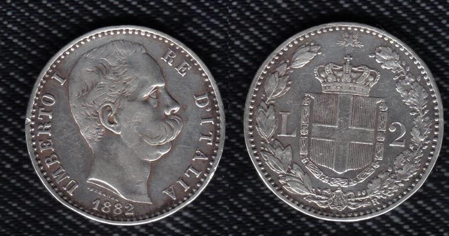 Mi colección de monedas italianas. 2%20liras%201882