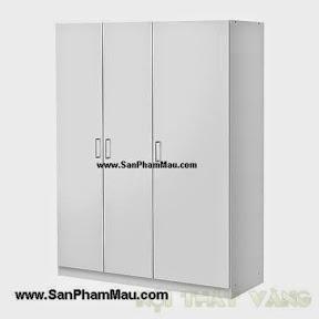 Sản xuất tủ áo gỗ màu trắng