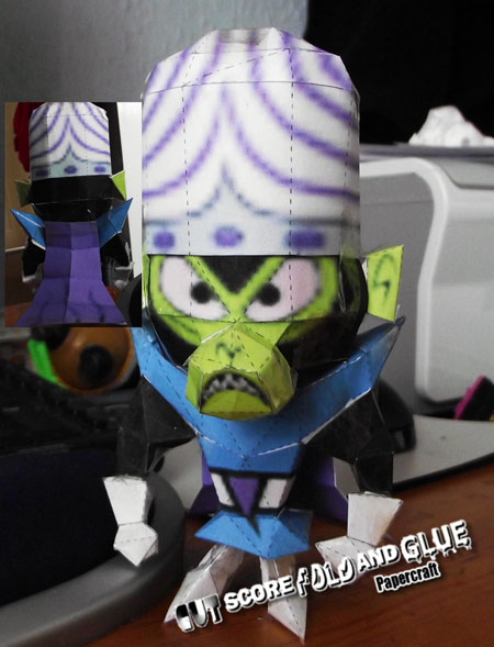 Powerpuff Girls Mojo Jojo Papercraft