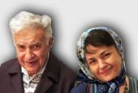 Ezatollah Sahabi y Haleh Sahabi