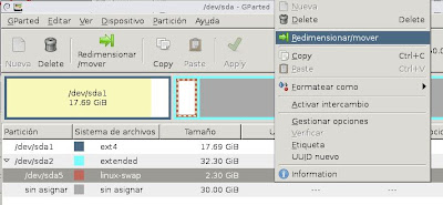 Expandir hd root virtual ext4 con GParted en VMware Workstation