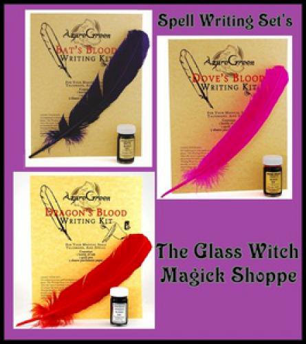 Magickal Spell Writing Sets Using Dragon Bat Or Dove Blood Ink 8 00