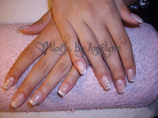 French  Silver Nail Art