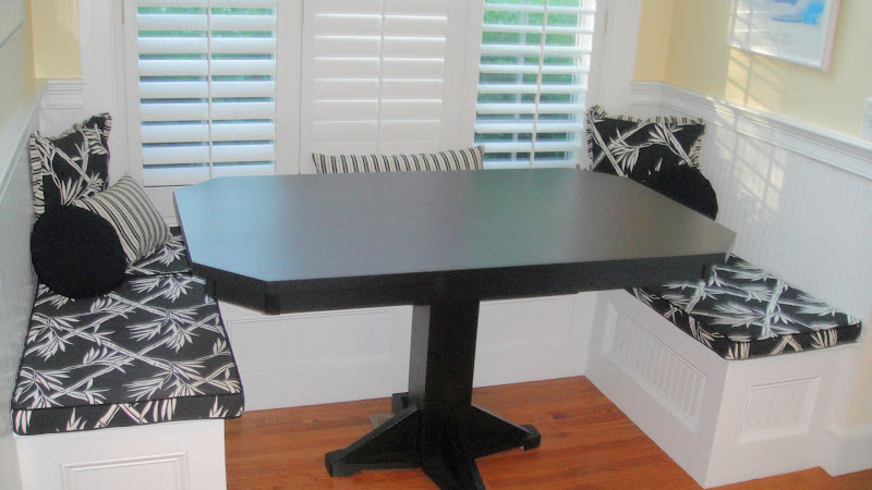 Handcrafted kitchen nook tables from erik organic for Dining room table 60 x 36