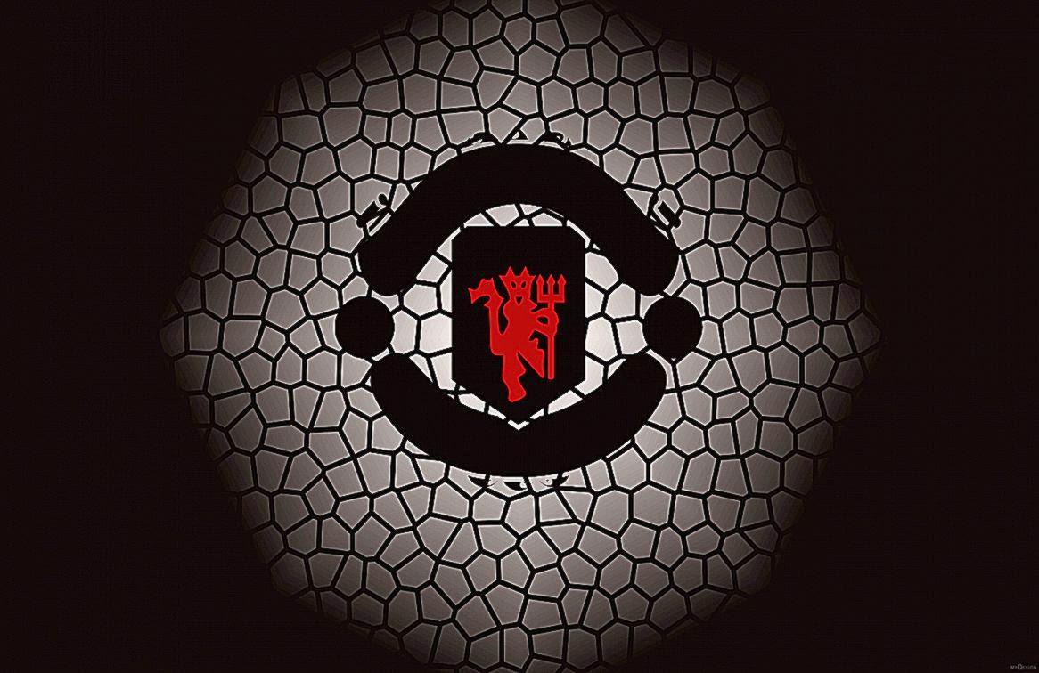 3d manchester united red devils logo desktop wallpapes hd download black white hd manchester united logo voltagebd Gallery