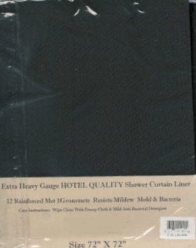 Heavy Weight Hotel Quality VINYL Shower Curtain Liner - Color ...