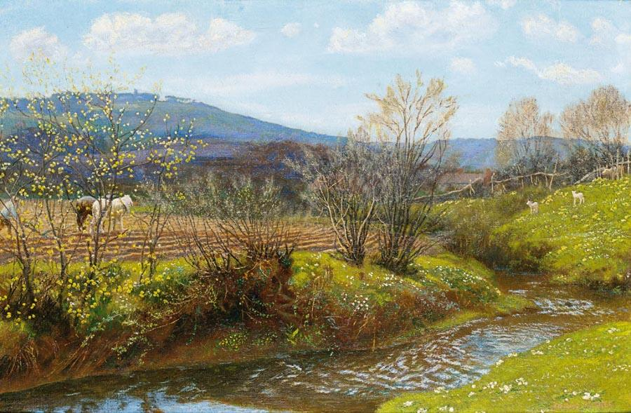 Arthur Hughes - A Spring Afternoon