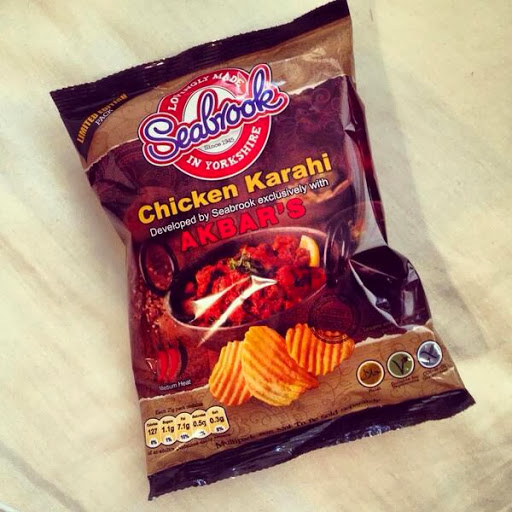 "Akbar's New Seabrook Crisps Flavour ""Chicken Karahi"""